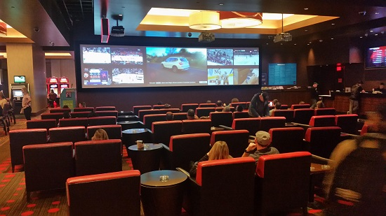 The Linq Sports book allows Cigar smoke and there is plenty of it.