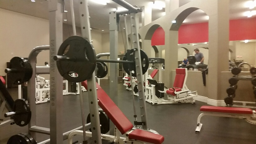 Fitness Center is very spacious