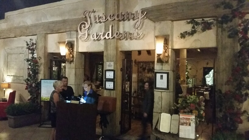 Tuscany Gardens is a high class Italian Restaurant that is popular with Locals
