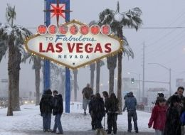 December, 2008, Las Vegas had a good amount of snow.