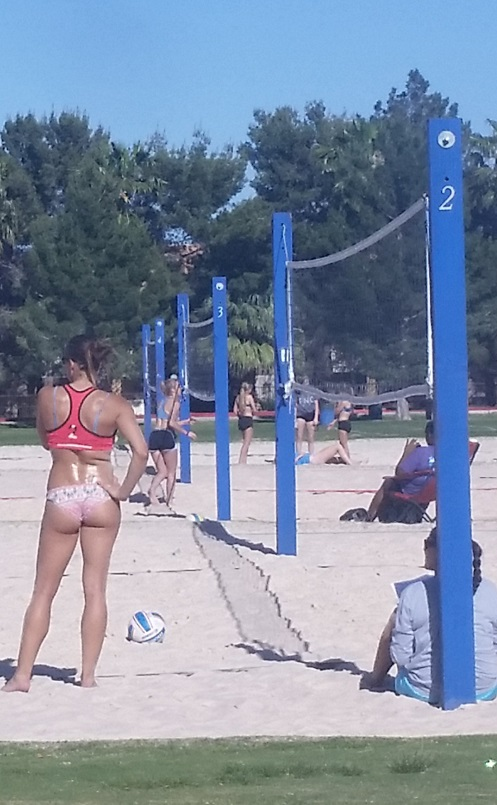 Sunset Park has many Volleyball Courts, one is always open