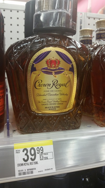Even Crown Royal is affordable.