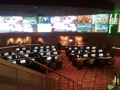 tropicana sports book from the second floor