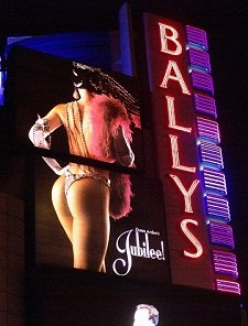ballys iconic jubilee sign at nigh