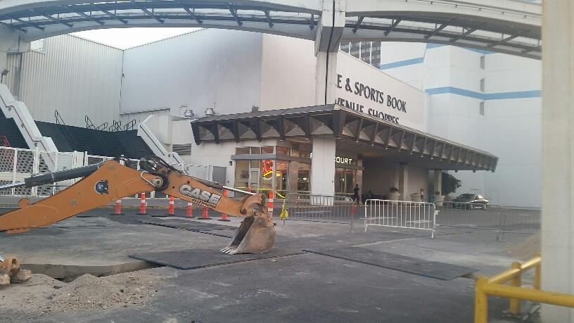 The Bally's Sports Book was getting lots of cars parked there but were not customers. That will soon end.