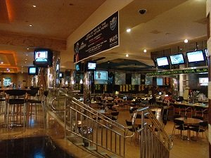 ballys las vegas sports book is down by the ballys poo