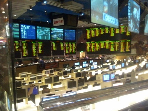 side view of the sports book