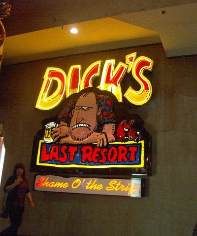 neon sign for dicks last resor