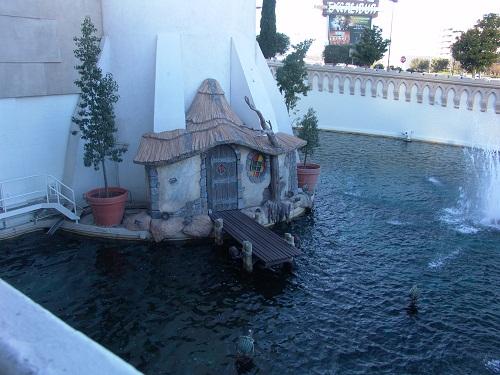moat with drawbridge down