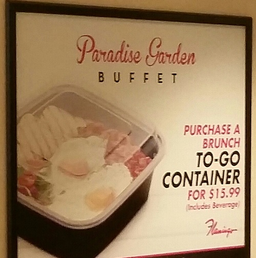 All You can fit in this container from Flamingo buffet is only 15.99 at breakfast