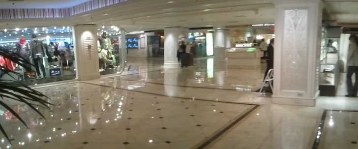 flamingo lobby showing all marble