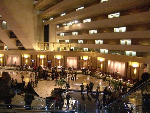 atrium lobby at the luxo