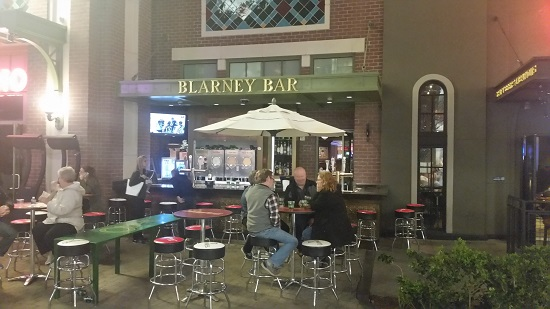 There are lots of outside seating areas for Eating and Drinking and People watching